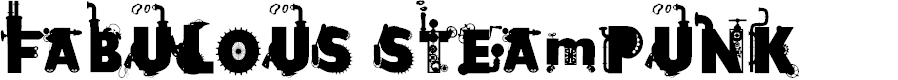 Preview image for Fabulous Steampunk Font