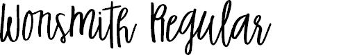 Preview image for Wonsmith Regular Font