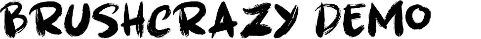 Preview image for Brushcrazy DEMO Regular Font