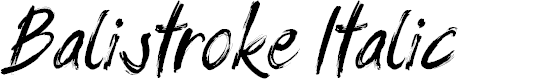 Preview image for Balistroke Italic Font