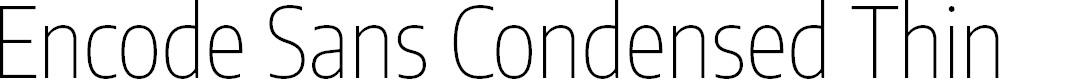Preview image for Encode Sans Condensed Thin