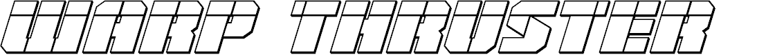 Preview image for Warp Thruster 3D Laser Italic