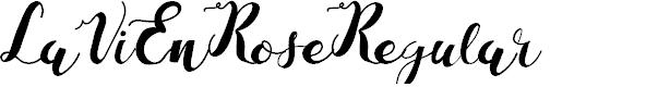Preview image for LaViEnRose-Regular