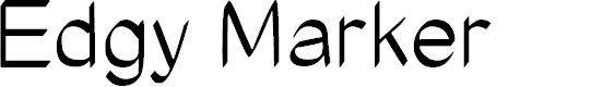Preview image for Edgy Marker Font