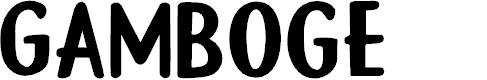 Preview image for DK Gamboge Regular Font