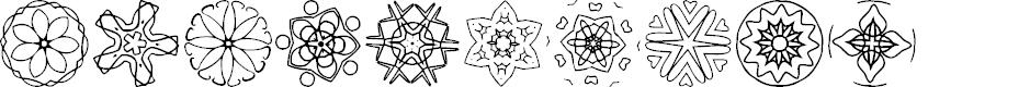 Preview image for JI Kaleidoscope Bats 5 Font