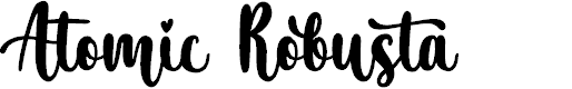 Preview image for Atomic Robusta - Personal Use Font