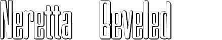 Preview image for Neretta Beveled Font