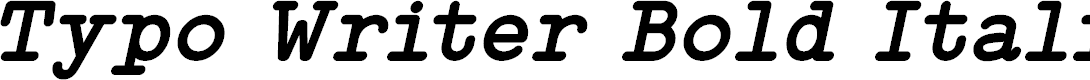 Preview image for Typo Writer Demo Bold Italic