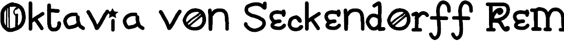 Preview image for Oktavia von Seckendorff Remix Regular Font