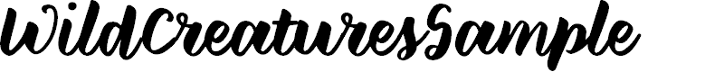 Preview image for WildCreaturesSample Font