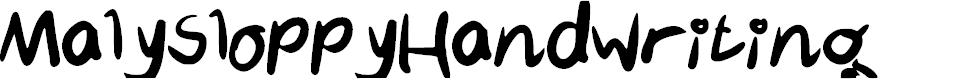 Preview image for MalySloppyHandwriting Font