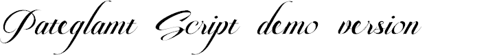Preview image for Pateglamt Script demo version Font