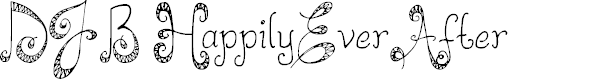 Preview image for DJB HappilyEverAfter Font