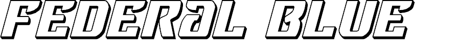 Preview image for Federal Blue 3D Italic