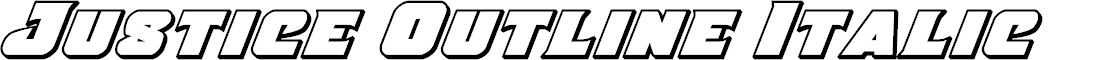Preview image for Justice Outline Italic