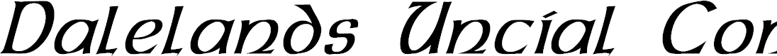 Preview image for Dalelands Uncial Condensed Italic