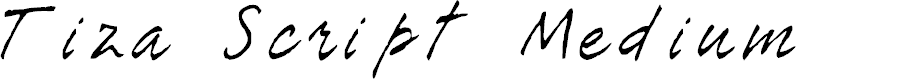 Preview image for Tiza Script Medium Font