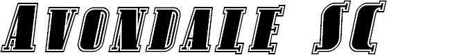 Preview image for Avondale SC Inline Italic