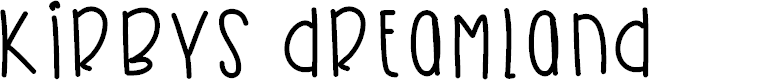 Preview image for KirbysDreamland Font