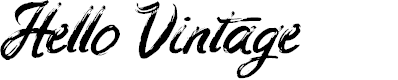 Preview image for Hello Vintage Font