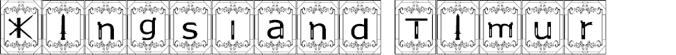 Preview image for Kingsland Timur Font