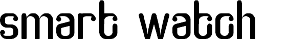 Preview image for smart watch Font