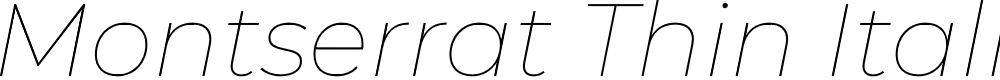 Preview image for Montserrat Thin Italic