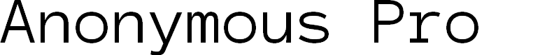 Preview image for Anonymous Pro Font