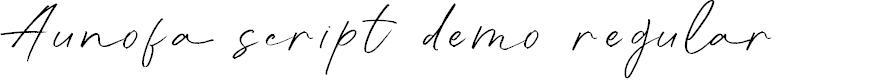 Preview image for Aunofa Script DEMO Regular Font