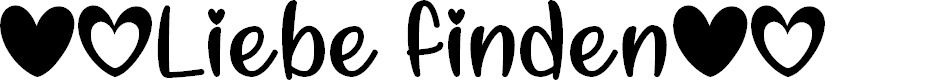 Preview image for Liebe finden Font