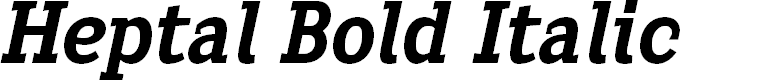 Preview image for Heptal Bold Italic