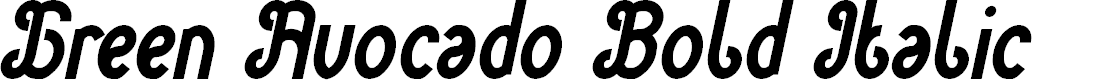Preview image for Green Avocado Bold Italic