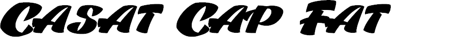 Preview image for Casat Cap Fat PERSONAL USE Font