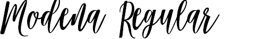 Preview image for Modena Regular Font