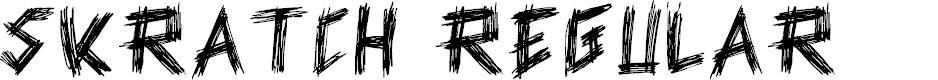 Preview image for Skratch Regular Font