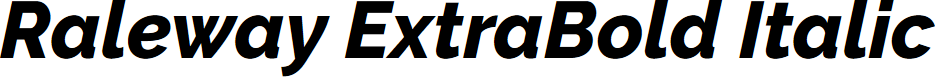 Preview image for Raleway ExtraBold Italic