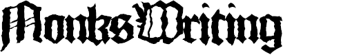 Preview image for MonksWriting Font
