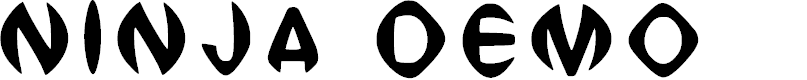 Preview image for Ninja Demo Regular Font