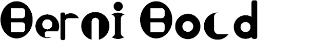 Preview image for Berni Bold Font
