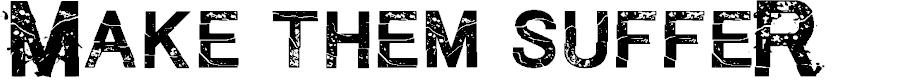 Preview image for MakethemSuffeR-Regular Font