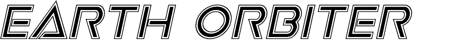 Preview image for Earth Orbiter Academy Italic