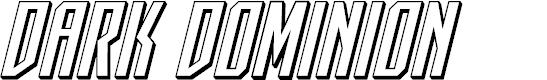 Preview image for Dark Dominion 3D Italic