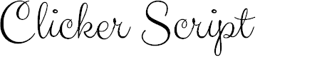 Preview image for Clicker Script Font