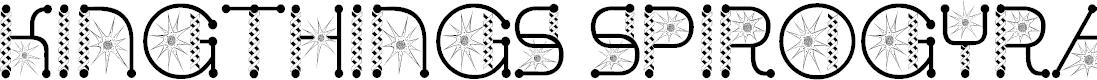 Preview image for Kingthings Spirogyra  Font