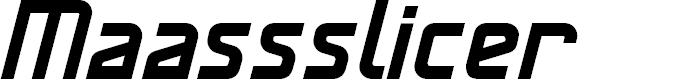 Preview image for MaassslicerItalic Font