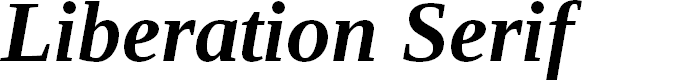 Preview image for Liberation Serif Bold Italic