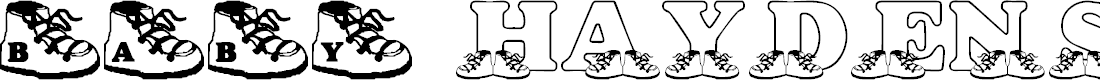 Preview image for LMS Baby Hayden's Shoes Font