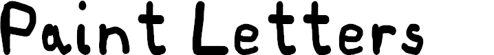 Preview image for Paint Letters Font