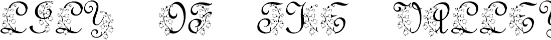 Preview image for LMS Lily Of The Valley Font